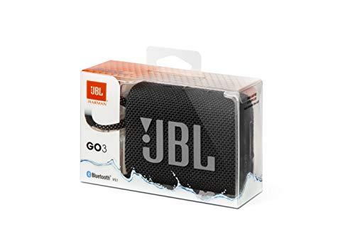 JBLGO3BluetoothスピーカーUSBC充電/IP67防塵防水/パッシブラジエーター搭載/ポータブル/2020年モデルブラックJBLGO3BLK【国内正規品/メーカー1年保証付き】