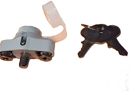 Hurricane Shutter Lock, Hi Velocity Lock Kit, Accordion Shutter Hardware, White