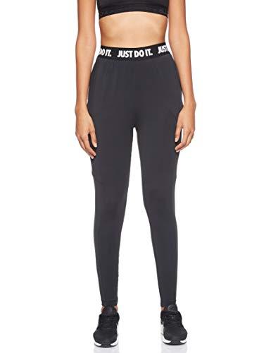 Nike Damen W Nk Pwr Vnr Hose, Schwarz/Weiß, M