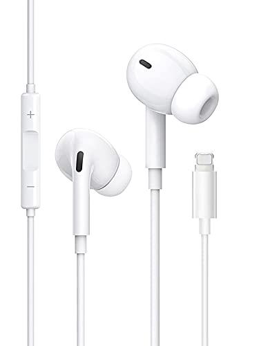 ZHENQI Auriculares Cascos para iPhone 12,In Ear Resistentes al Sudor,Cascos con...