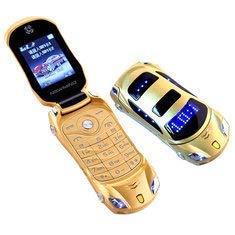 WINSOME snexian Rock Car Design Keypad Flip Phone with Dual Sim (Gold)