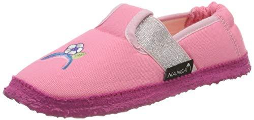 Nanga Mädchen Einhorn Niedrige Hausschuhe, Pink (Rosa 25), 27 EU