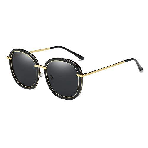WHSS Gafas de Sol Negro Rosa Gafas De Sol Polarizadas Hombres Y Mujeres Gafas De Sol Influx Espejo De Conducción Pesca Al Aire Libre Gafas De Sol (Color : Black)