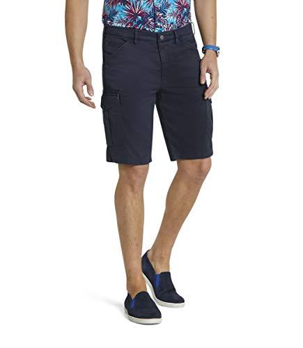 MEYER Pantalones de los Hombres B-Orlando Algodón - Azul-Marino - Bermudas Cargo Muy elásticas