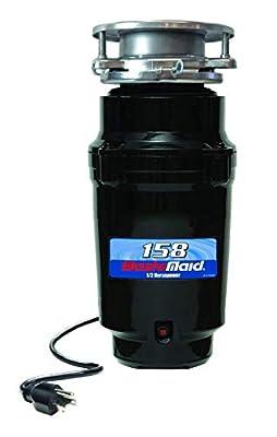 Waste Maid 10-US-WM-158-3B Garbage Disposal, 1/2 HP Standard, Black