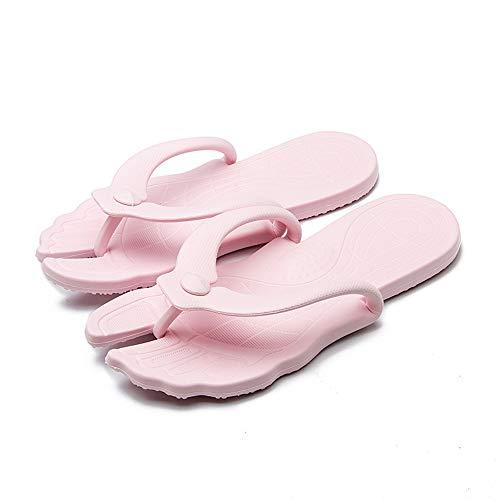 EXQULEG Zuhause draussen Hausschuhe Faltbarer tragbarer Geschäftsreiselicht rutschfeste weiche Schuhe Badeschuhe Unisex Casual Badelatschen Sandalen (S(35/36EU), Rosa)
