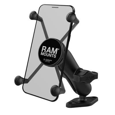 RAM MOUNTS (RAM-B-102-UN10U 1' Diameter Ball Mount with Diamond Base & Universal X-Grip Iv Large Phone/Phablet Holder