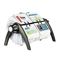 Visifix Duoロータリービジネス/アドレスファイルHolds 80041/ 8x 27/ 8カード、ブラックby :耐久性
