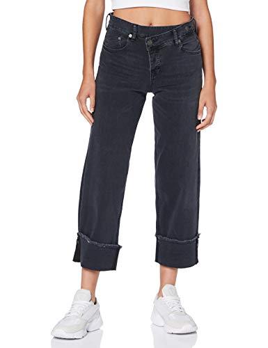 Herrlicher Damen Maze Denim Black Cashmere Touch Jeans, INOX 095, 27