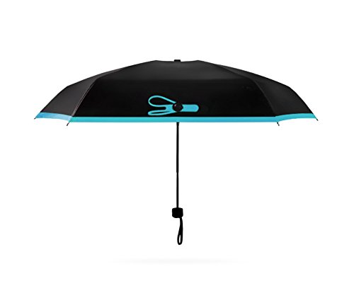 Enterest Mini Portable Umbrella 6.69 inches The Best Intimate Helpmate for You Sun and Rain Umbrella It is Easy to Carry and Ideal for Travel (Blue)