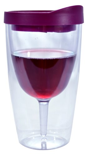 Southern Homewares 10 oz'Wine 2Go!' Insulated Vino Double Wall Acrylic Wine Tumbler with Drink...