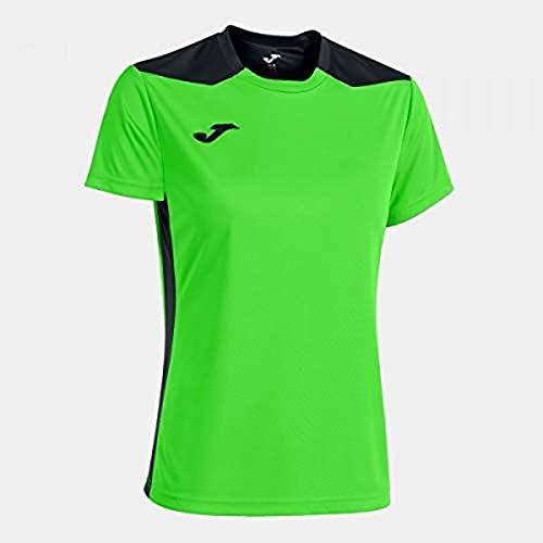 Joma Championship VI T-Shirt pour Femme L Vert Fluo/Noir