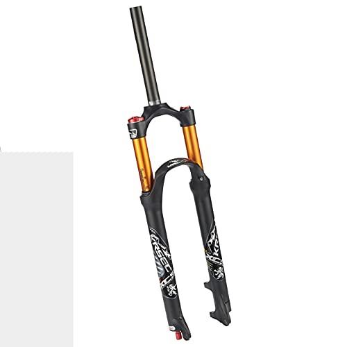 Horquilla Bicicleta,26/27,5/29 Pulgadas Amortiguación de Ajuste Fino Cerradura Hidraulica Carrera 120 Mm Apto para Bicicletas MTB Horquilla de Suspensión B,26 Inch