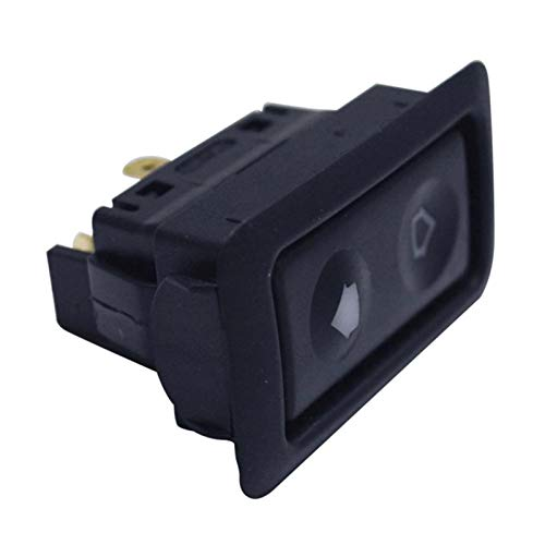 Swide PC Bag Interruptor De Ventana Eléctrico Universal para Automóvil De 6 Pines Luz De Pantalla Verde Incorporada 1224V 50x308x29mm 197x121x141inch Way