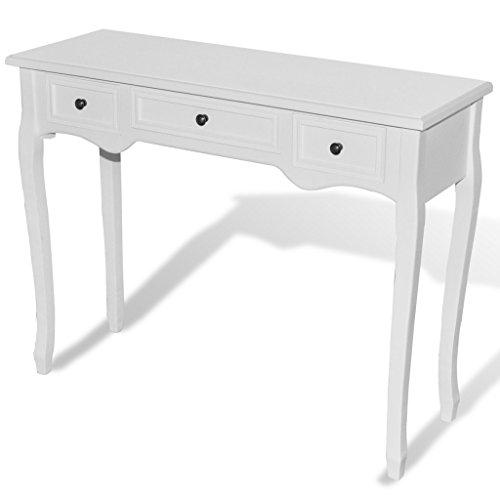 Anself Meuble Console Table avec Tiroirs en Bois