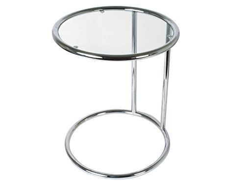 Leitmotiv TN646 Table d'Appoint, Verre, Chrome, Taille S