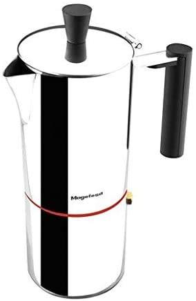 MAGEFESA NOVA CAPRI – La cafetera MAGEFESA NOVA CAPRI está fabricada en acero inoxidable 18/10, compatible con todo tipo de cocina. Fácil limpieza (10 TAZAS)