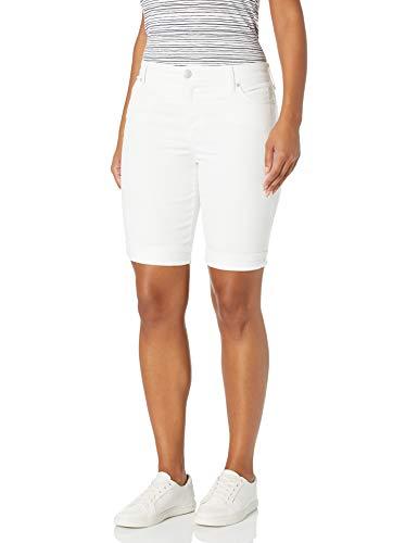 Bandolino Women's Mandie 5 Pocket Denim Bermuda Short, Bright White, 14 Regular