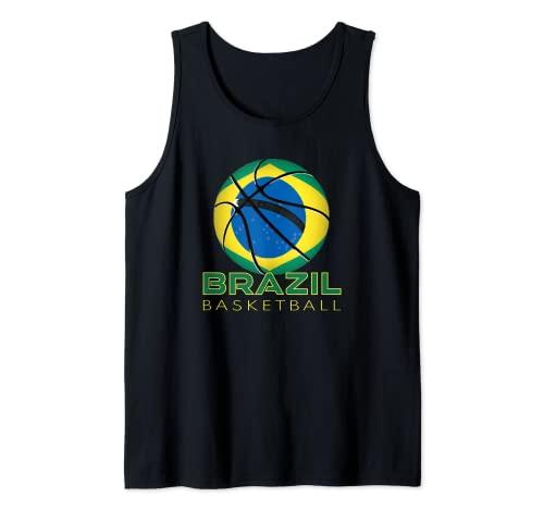 América Brasil Fan Deportes Bandera Nacional Brasil Baloncesto Camiseta sin Mangas