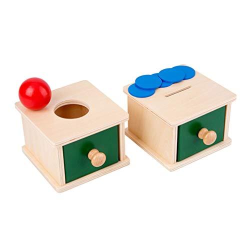 Balacoo Holz Kinder Pädagogisches Spielzeug Übung Hand- Auge Koordination Spielzeug für Kinder Kinder für Jungen Und Mädchen ( Münze Boxen Stil )