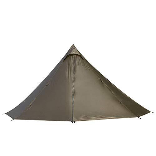OneTigris Smokey HUT Ultralight Hot Tent with Stove Openning, 2.6Ibs, Black Orca Series
