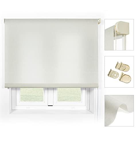 Blindecor Ara Premium - Estor Liso translúcido Piedra, 100x190 (Ancho x Largo). Tamaño de la Tela 97x190 cm (Ancho x Largo) Aprox.