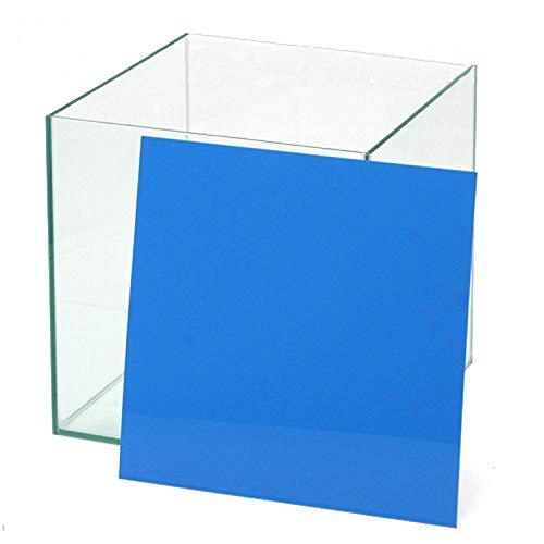 30cmキューブ水槽用 丈夫な塩ビ製バックスクリーン 30×30cm 青 スカイブルー