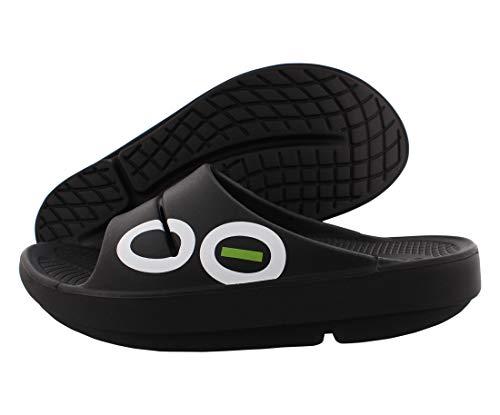 OOFOS Unisex Ooahh Slide Sandal,Black,9 B(M) US Women / 7 D(M) US Men