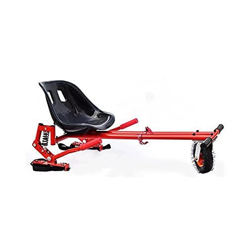 Hoverkart Kart de equilibrio eléctrico con bastidor de coche modificado con absorción de impactos, carro auxiliar de bastidor modificado de scooter de equilibrio, solo para rodamientos redondosWhite.