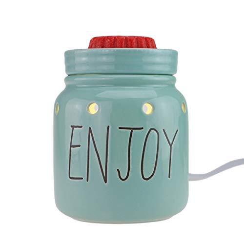 STAR MOON Wax Warmer for Home Décor, Scentsy Warmer, Home Fragrance Diffuser, No Flame, Removable Dish, with One More Bulb (Mason Jar)