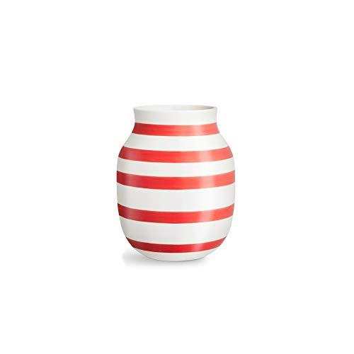 Kähler Omaggio Vase, Keramik, rot, 10 cm