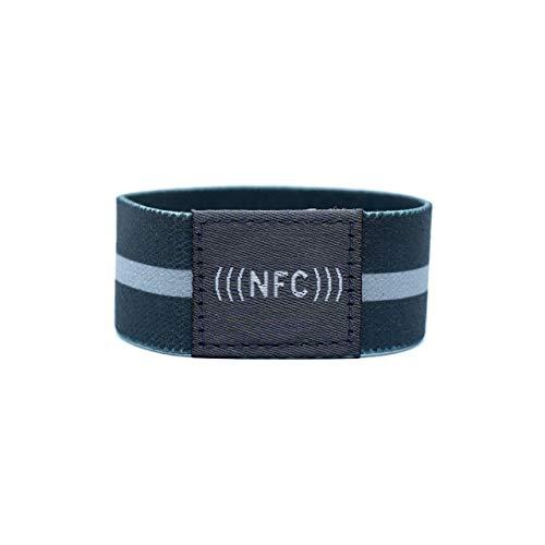 NFC Armband Stoff, flexibel, NTAG216, 924 Byte, grau, Größe M