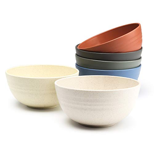 Choary Eco-friendly Wheat Straw cereal Bowls, Microwave-safe Bowl Sets
