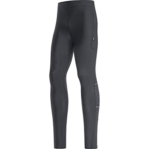 GORE WEAR Mallas de running Impulse para hombre, XXL, Negro