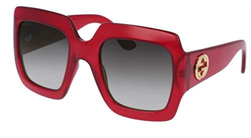 Gucci GG0053S gafas de sol w/gris del gradiente de la lente 003 GG 0053S mujer rojo Grande
