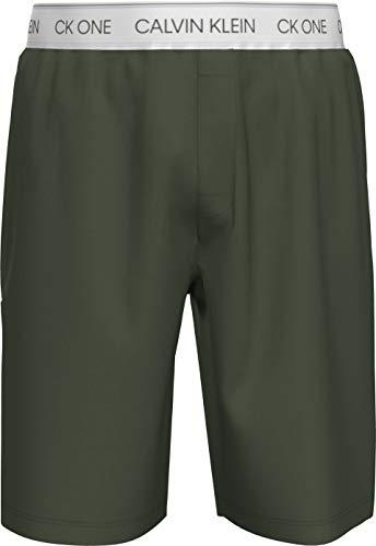 Calvin Klein Sleep Short Pantaln de Pijama, Verde Oscuro, XL para Hombre