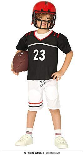 Fiestas Guirca Champion Quarterback Kostüm Kinder Teenagers - 10-12 Jahre - American Football Kostüm Kinder - Schulterpolster Football Kostüm Footballspieler, Fasching Teenager Kostüm Jungen Karneval