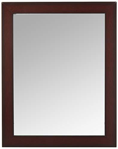 Home Basics Contemporary Rectangle Wall Mirror, Mahogany