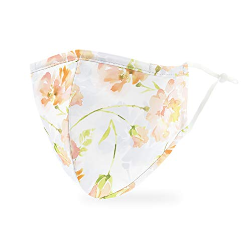 Weddingstar 3-Ply Adult Washable Cloth Face Mask Reusable and Adjustable with Filter Pocket - Pastel Floral