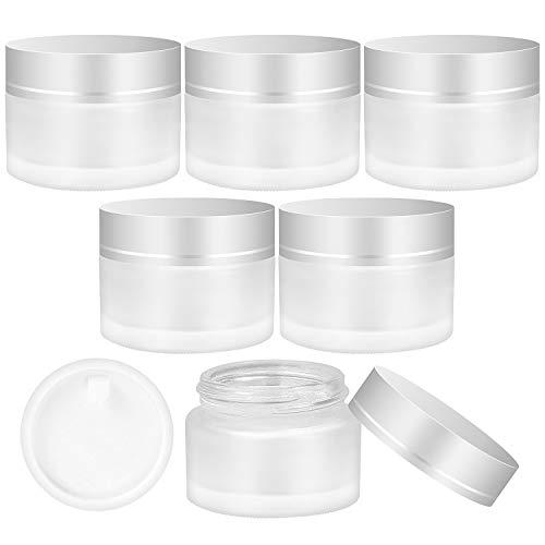 6 Stück Cremedose Leer Kosmetikbehälter mit Deckel und Liner für Kosmetik Cremes Lotionen ätherische Öle 30 ml
