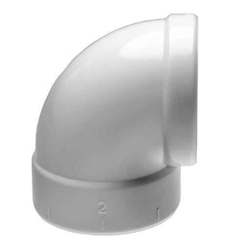 vhbw Sicherheitsbogen passend für Zentral-Staubsaugeranlage, innen/innen, 50.8mm Durchmesser / 2\'\'Rundrohrsystem