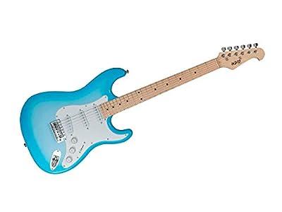 Monoprice Indio Cali Classic Electric Guitar - Blue Burst, With Gig Bag (610164)