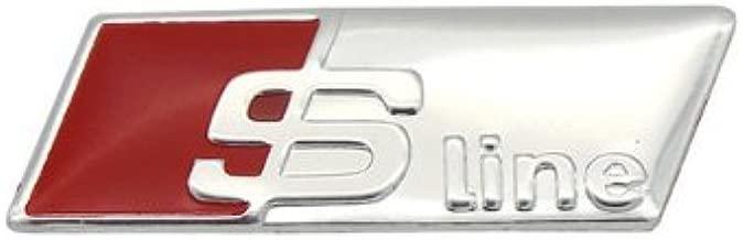 Emblema adhesivo Fireman para el volante con dise/ño RS S-Line en 3D fabricado con aleaci/ón de aluminio