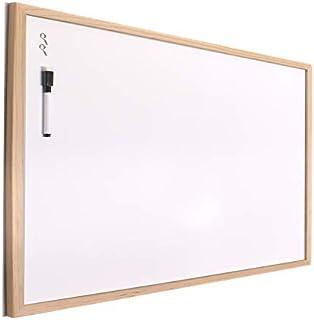 H HANSEL HOME - Tableau Blanc avec Cadre en Bois Naturel - 30X40 cm