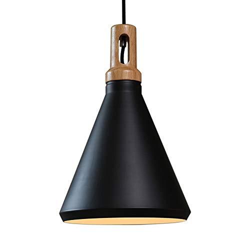 Lampadario moderno Lampadario a sospensione a sospensione per soggiorno, sala da pranzo e ristorante lampada a sospensione a sospensione, nero/bianco (Colore : NERO)