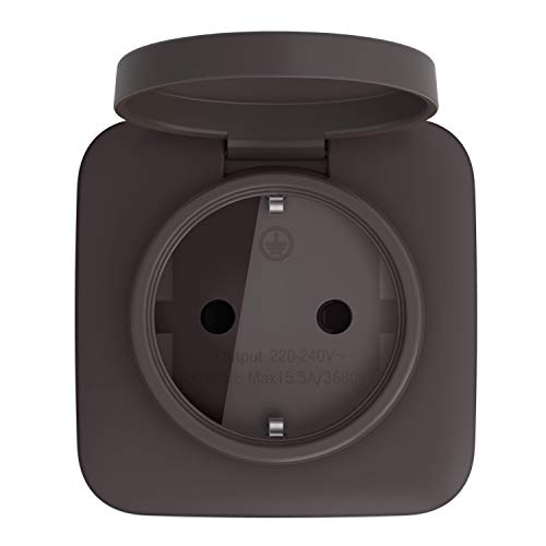 Telekom Smarthome Zwischenstecker außen - Über Magenta Smarthome App fernbedienbar - Funk-Schaltsteckdose - schwarz