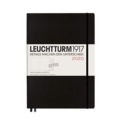 LEUCHTTURM1917 359970 Wochenkalender Master (A4+) 2020, mit Extraheft, Schwarz, Deutsch