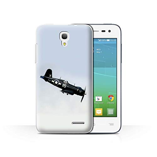eSwish Phone Case/Cover/Skin/ALC-CC/World War 2 Historic Aircraft Collection Alcatel OneTouch Pop S3 F4U Corsair US Navy Plane