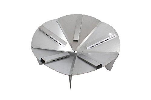 Premium Feuerschale 80 cm im Turbinen Design + 5 Turbo-Tunnel • Feuerkorb für den Garten • Feuerstelle als Grill • zerlegbar (Feuerschale + 5 Turbo-Tunnel)