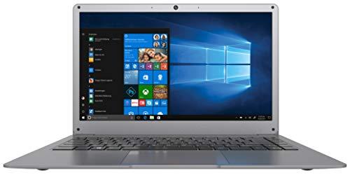 Odys mybook 14 35,56 cm (14 Zoll) Laptop (Intel Celeron Quad Core Prozessor N3450, 32GB Festplatte, 4GB RAM, M.2 SSD-erweiterbar, Win 10 Home) Grau (QWERTZ Tastatur)